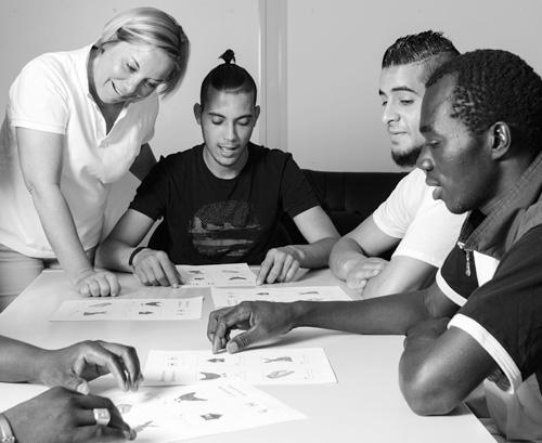 Migranten beim Sprachkurs